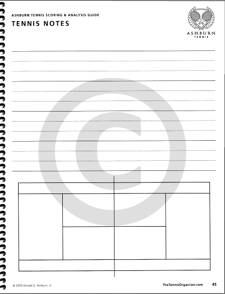 The Tennis Organizer  Best Tennis Score Book  Score Sheet Charting