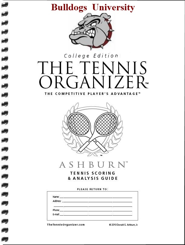 The Tennis Organizer ~ Best Tennis Score Book & Score Sheet Charting!